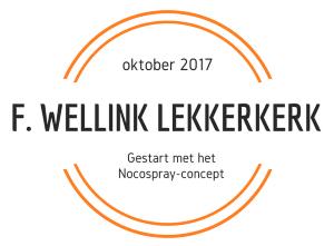 F. Wellink Lekkerkerk in oktober 2017 gestart met het nocospray-concept